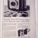 1960 Kodak Brownie Twin 20 Camera ad
