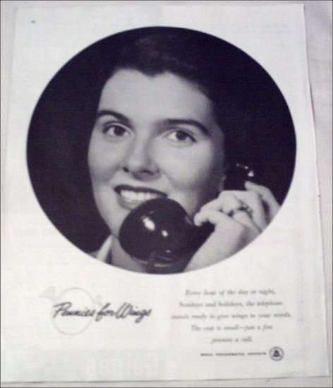 Bell Telephone Wings ad