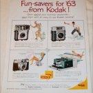 1963 Kodak Funsaver Cameras ad #1