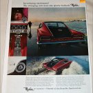 1965 American Motors Rambler Marlin car ad red & black