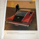 1965 American Motors Rambler Marlin Excitement car ad red & black