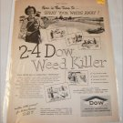 1946 Dow 2-4D Weedkiller ad