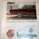 1965 American Motors Rambler Ambassador 990 2 dr ht car ad brown & white