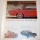 1965 American Motors Rambler American 2 dr ht car ad red