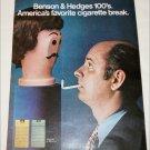 1971 Benson & Hedges 100's Cigarette Manneqin ad