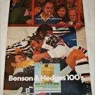 1971 Benson & Hedges 100's Cigarette Hockey ad
