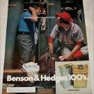 1972 Benson & Hedges 100's Cigarette Lockeroom ad