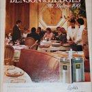1983 Benson & Hedges Deluxe 100 Cigarette ad