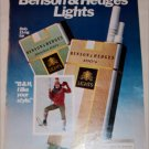 1980 Benson & Hedges Light 100's Cigarette Snowshoe ad