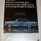 1966 American Motors Ambassador DPL 2 dr ht car ad blue & black