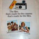 1969 Kodak Instamatic 124 Camera & Film ad