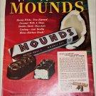 1950 Peter Paul Mounds Candy Bar ad