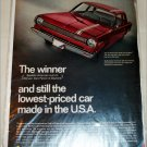 1966 American Motors Rambler American 220 2 dr sedan car ad