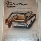 1966 American Motors Rambler Classic 770 CC 4 dr stationwagon car ad tan