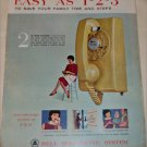 Bell Telephone 1-2-3 ad