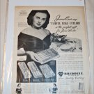 1950 Carver Hall Cutlery ad featuring Jeanne Crain