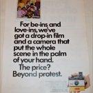 1970 Kodak Instamatic 124 Camera The Scene ad