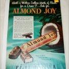 1950 Peter Paul Almond Joy Candy Bar ad