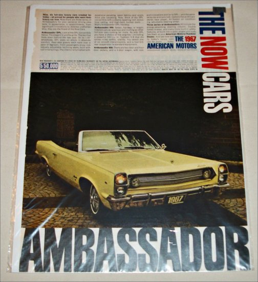 1967 American Motors Ambassador convertible car ad