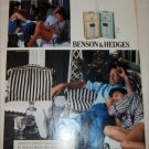 1990 Benson & Hedges 100's Cigarette Relaxing ad