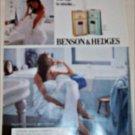 1990 Benson & Hedges 100's Cigarette Bathroom ad