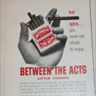 1964 Between The Acts Cigar ad