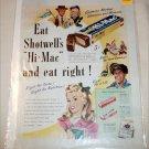 1947 Shotwell's Hi-Mac Candy Bar ad
