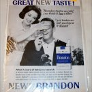 1963 Brandon Cigarette ad
