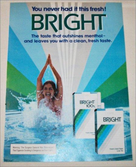 1983 Bright Cigarette Swimming Girl ad