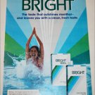 1983 Bright Cigarette Swimming Girl ad