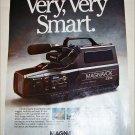 1989 Magnavox VHS Camcorder ad