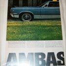 1967 American Motors Ambassador DPL 2 dr ht car ad