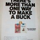 1990 Bucks Cigarette More Than One way To Make A Buck ad