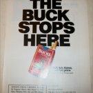 1990 Bucks Cigarette The Buck Stops Here ad