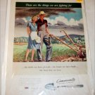 1943 Community Silverplate WWII ad
