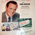 1947 Warrens Mint Cocktail Gum ad featuring Van Heflin