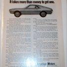 1968 American Motors AMX ad