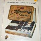 1925 Whitman's Sampler Chocolates ad