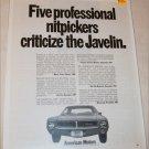 1968 American Motors Javelin Nitpick car ad