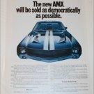 1968 American Motors AMX car ad