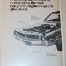 1968 Steel ad featuring American Motors Javelin SST