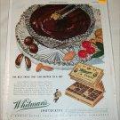 1945 Whitman's Sampler Chocolates ad