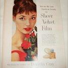 1957 Dorothy Gray Sheer Velvet Film ad