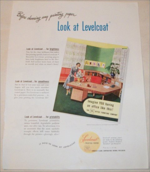 1948 Levelcoat Printing Papers ad
