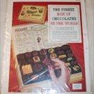 1954 Whitman's Sampler Chocolate ad