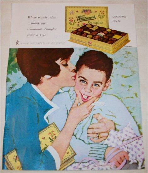 1963 Whitman's Sampler Chocolates Mom and Son ad