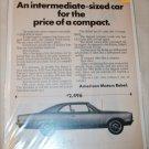 1969 American Motors Rebel 4 dr sedan car ad #3