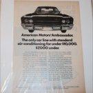 1969 American Motors Ambassador Car ad