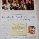 1936 Camel Cigarette Money Back ad