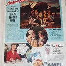 1942 Camel Cigarette B17 Bomber Crew ad